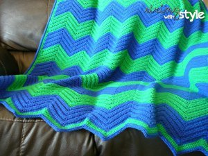Addicted to Chevron Afghan
