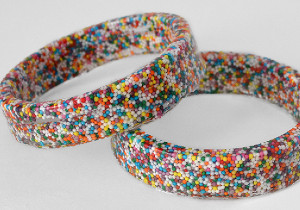 Sprinkles and Resin Bangle