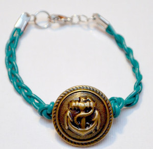 Braided Anchor Bracelet