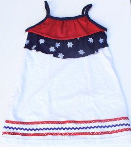 Stars and Stripes Dress for Girls