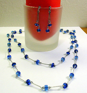 Opera-Length Wire Necklace and Earring Set