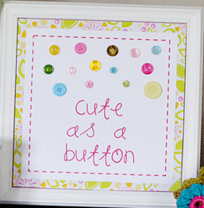 Cute as a Button Wall Art