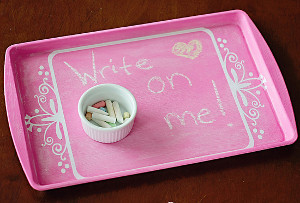 On the Go Chalkboard Tray