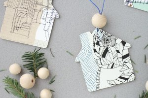 Pretty Paper House Ornaments