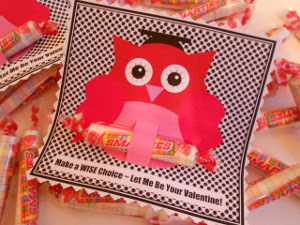 Owl and Smarties Valentines