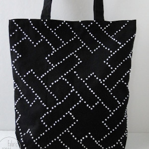 Dotty Embroidered Tote