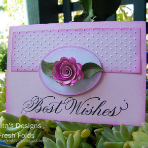 Pretty In Pink Scalloped Rose Card