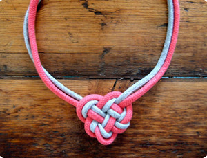 Simple Celtic Heart Knot Necklace