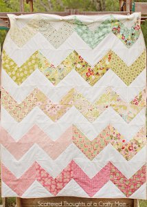 The Easiest Chevron Quilt