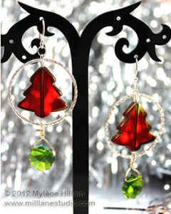 Glowing Christmas Tree Earrings