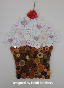 Custom canvas wall accent for Michaels crafts button maker