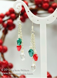 Christmas Bulb Dangle Earrings