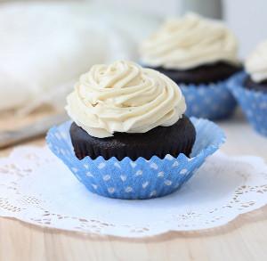 Sassy Dark Chocolate Cupcakes