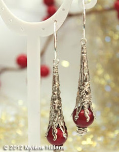 Snow Cone Filigree Earrings