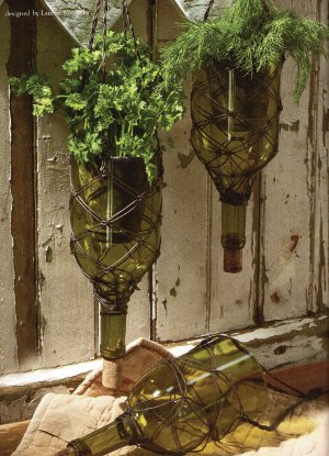 Wine Bottle Herb Garden