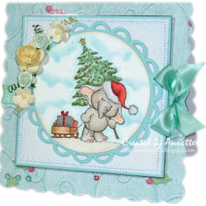 An Elephant Never Forgets Christmas Card