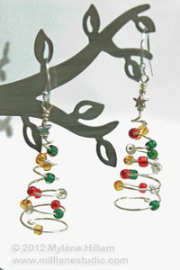 Spiral Evergreen Earrings