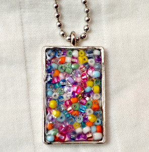 Seed Bead Jeweled Pendant