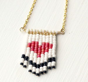 Fringed Heart Necklace