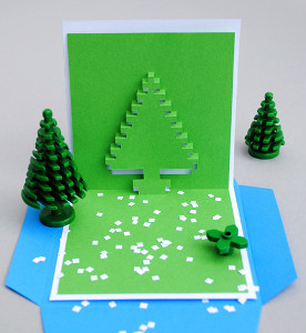Christmas Pixel Pop Up Card