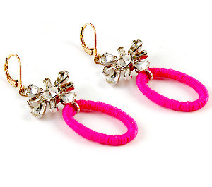 Modern Vintage Neon Earrings