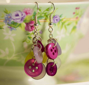 Cute Cascading Button Earrings