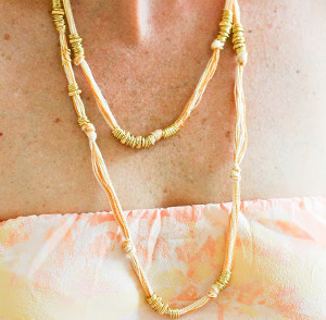 Knotted Gold Jump Ring Necklace