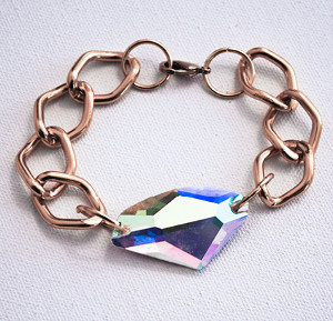 Jeweled Chain Impact Bracelet