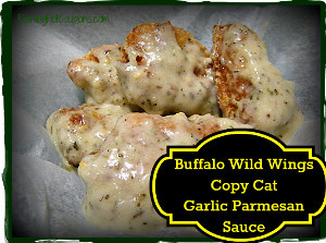 Copycat Buffalo Wild Wings Garlic Parmesan Sauce