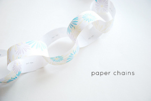 Spring into the Season Paper Flower Chain