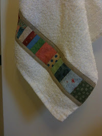 Patchwork Embellished Kitchen Towel