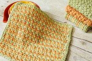 Cheerfully Simple Dishcloth