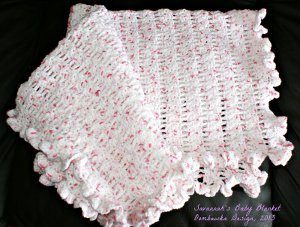 Crochet Patterns For Baby Blanket Edges : Ruffled Edge Baby Blanket AllFreeCrochet.com