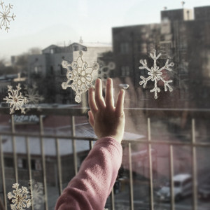 Dazzling Snowflake Window Clings