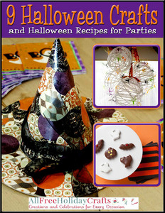 """9 Halloween Crafts and Halloween Recipes for Parties"" eBook"
