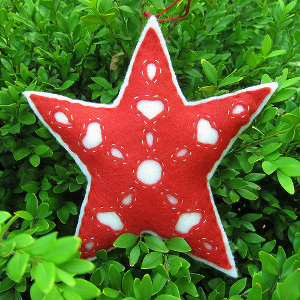 Hungarian Felt Star Ornament