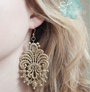 Lace Applique Earrings