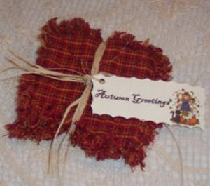 Raggedy Autumn Harvest Coasters