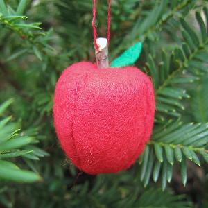 German Felt Apple Ornament