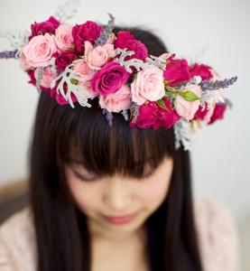 Wild Roses and Lavender Flower Crown
