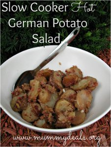 Slow Cooker Hot German Potato Salad