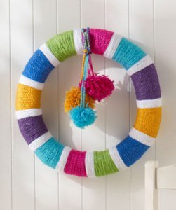 All Year Rainbow Wreath