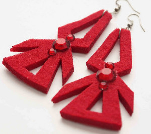 15 Minute Snowflake Earrings