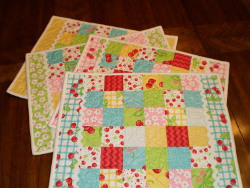 Cherry Jelly Roll Placemats