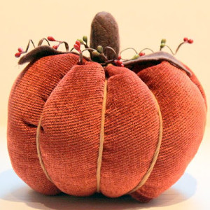 Textured Fabric Pumpkins