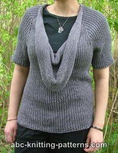 Summer Night Cowl Sweater AllFreeKnitting.com