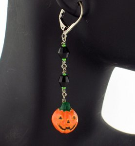 Grinning Jack O' Lantern Earrings