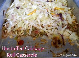 Unstuffed Cabbage Roll Casserole