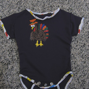 6 Step Turkey Onesie