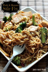 Restaurant Style Pork and Ramen Stir-Fry